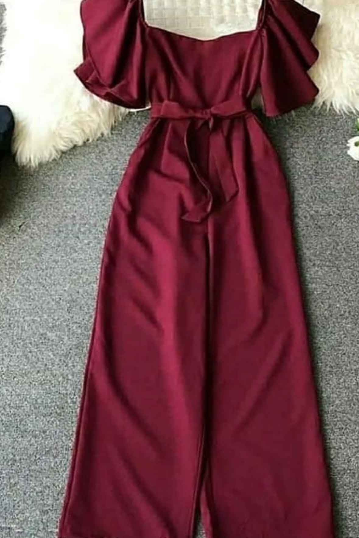 Love for all jumpsuit Marsala