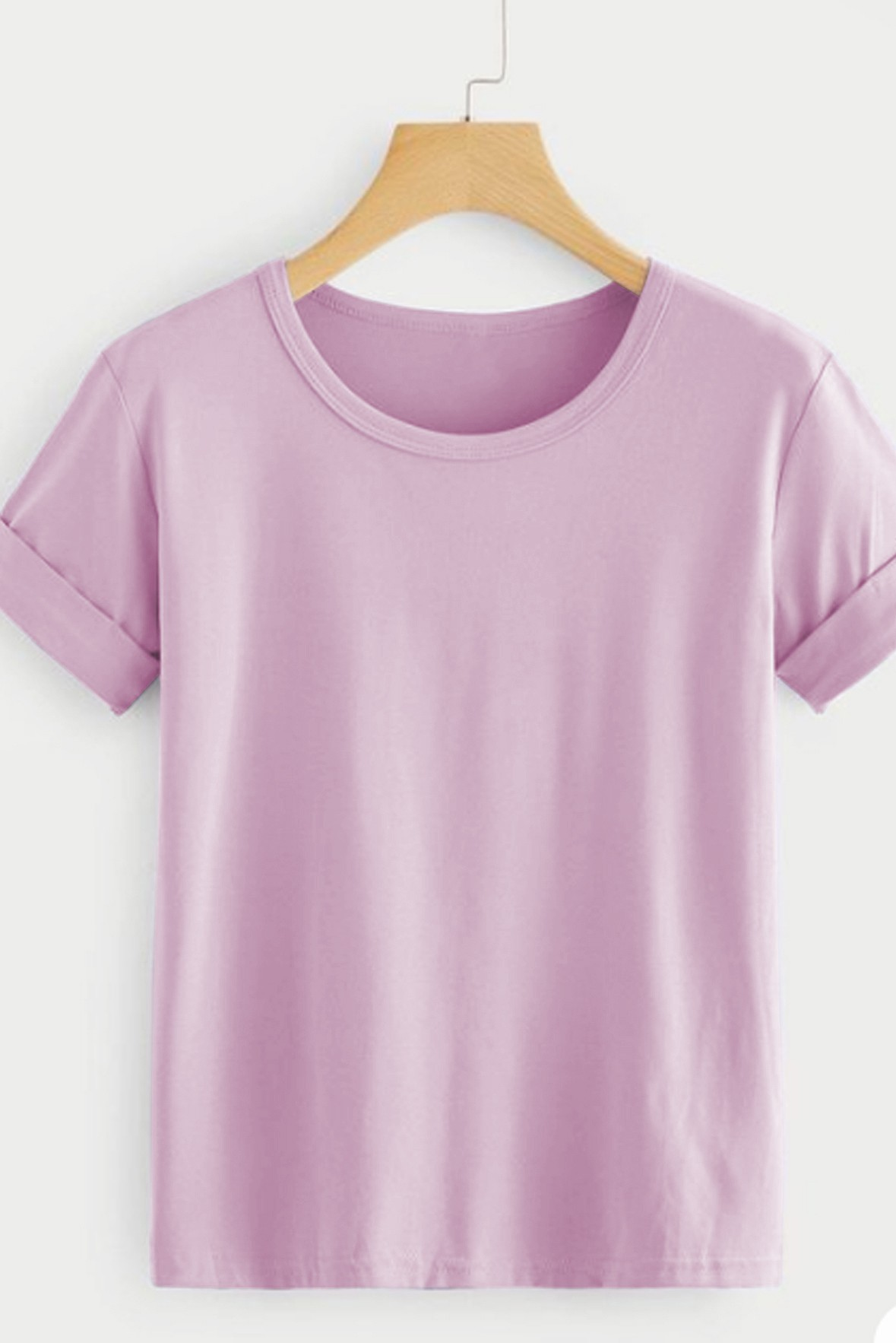 Rolled Sleeve Basic Top