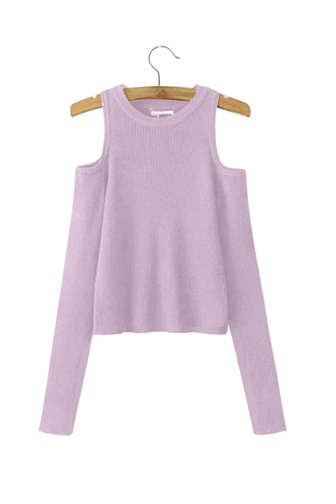 Dew Shoulder Thread Long Sleeve Top
