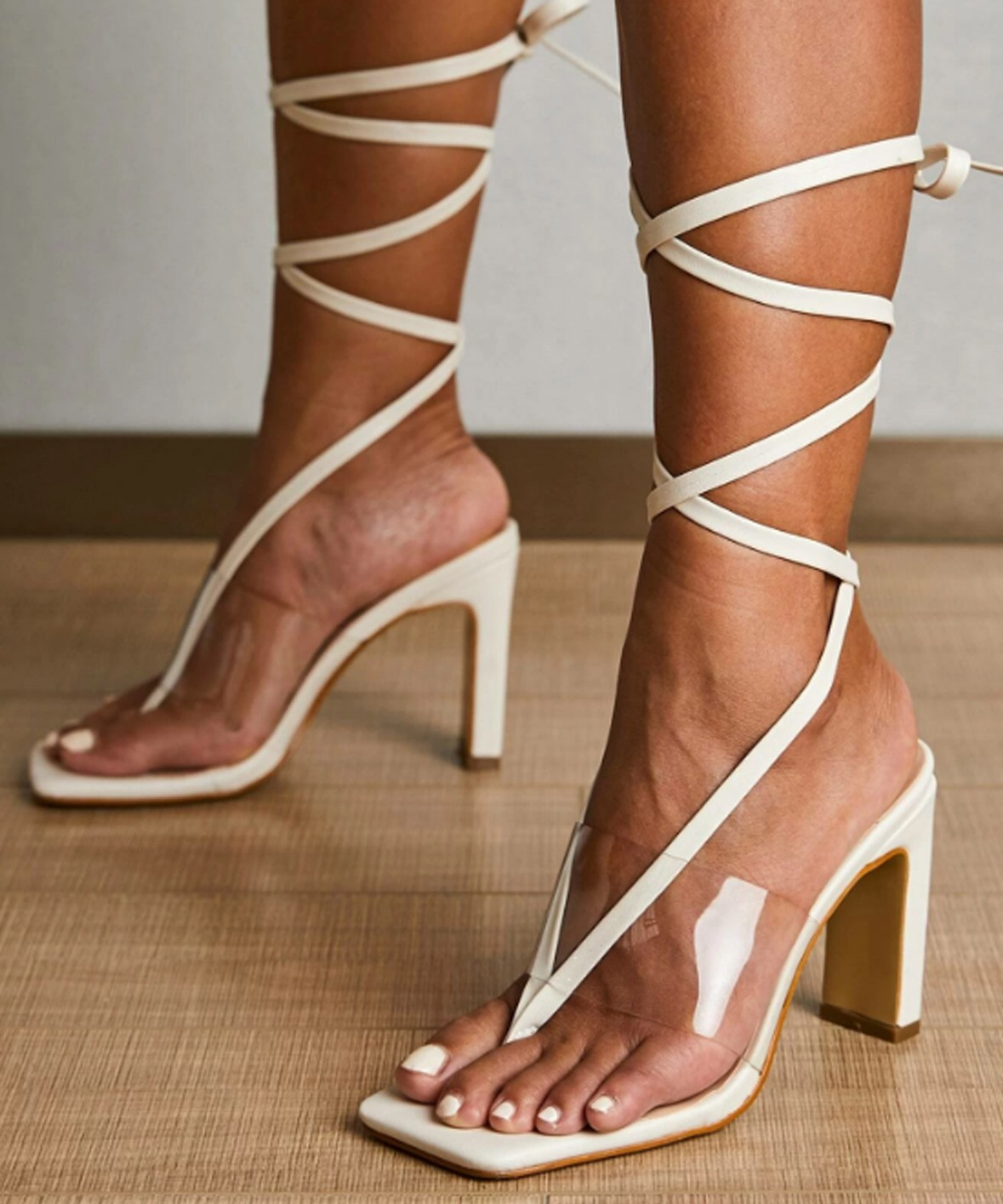 Rose fields white heels