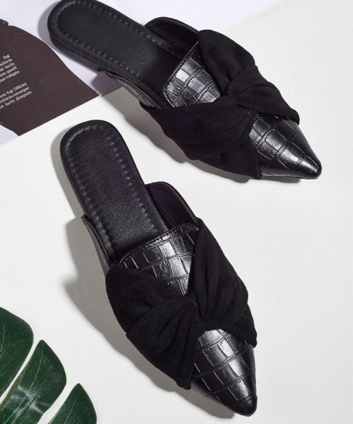 Miss catalonia Flats black mules