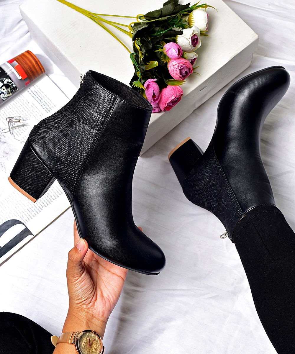 Marie black ankle boot