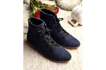 Midnight blue comfort boot