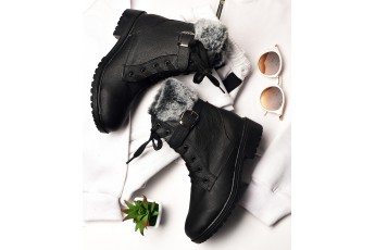 Ace the winter black boots