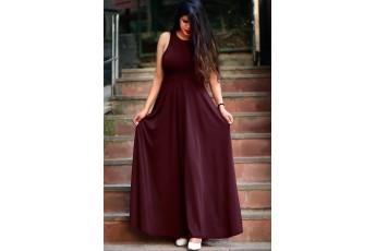 Marsala long maxi dress