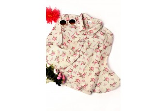 Canvas floral print jacket
