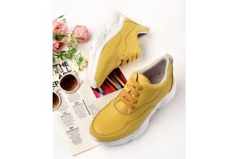 My little sunshine mustard sneakers