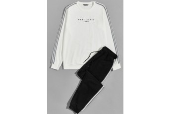 Set of 2: Such is life Sweatshirt & Sweatpants for women