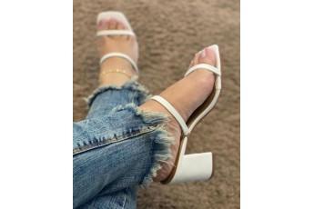 A mayfair white heels