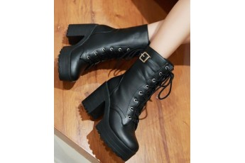 Gossip girl fan girl platform boots