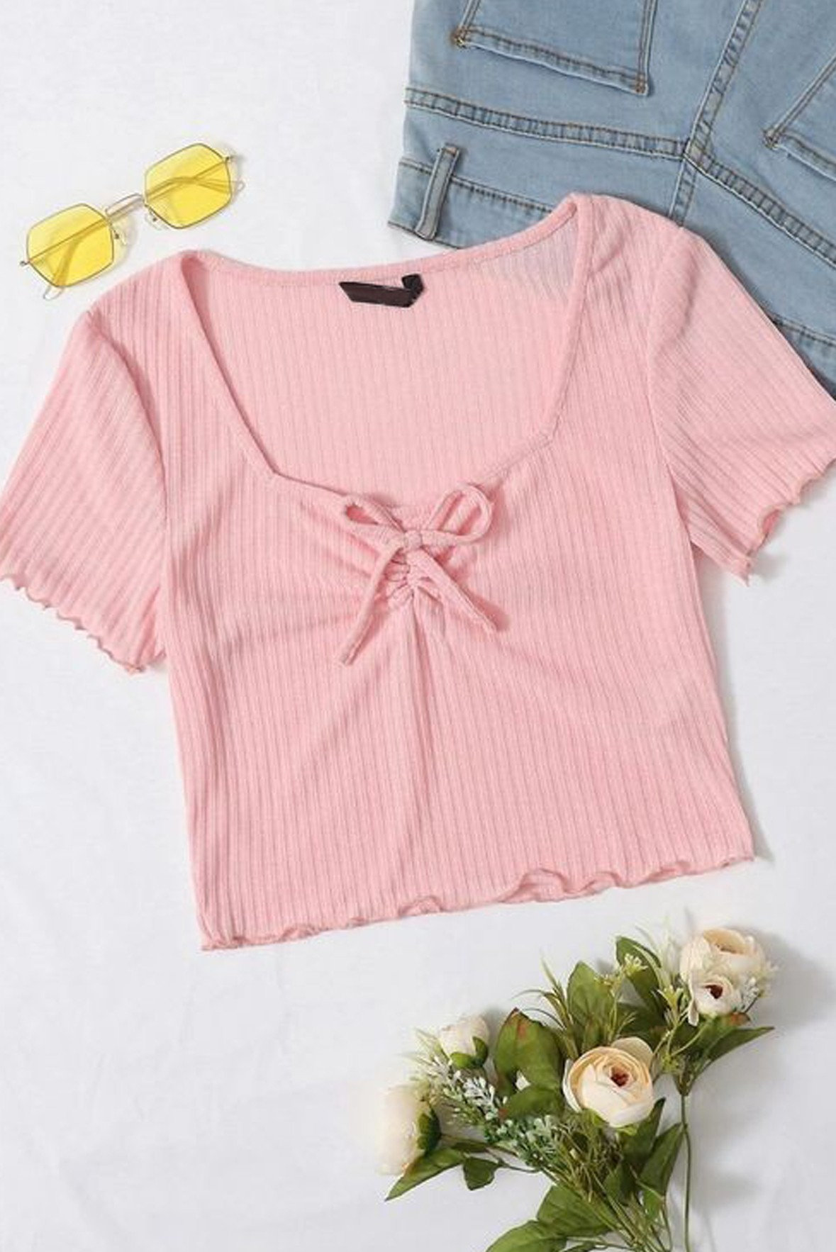 The Bon Voyage Ribbed Top   Peach   Street Style Store
