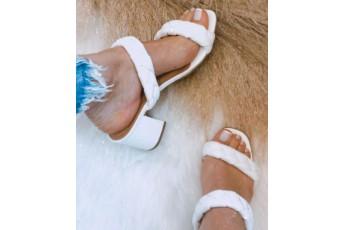 Little town birdie white braided heels