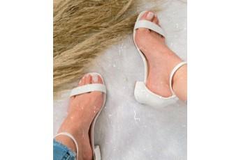 La vie en rose white heels