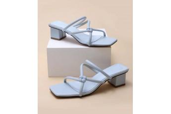 A vintage blue block heels