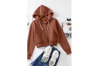 Zip-up Pullover Sweatshirt