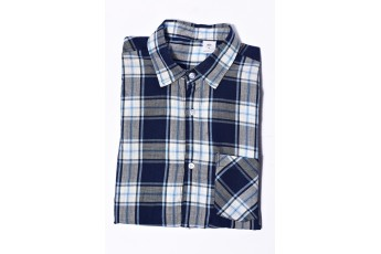 Men Gray And Blue Checked Casual Shirt