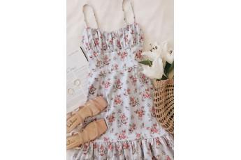 Cute print daily wear dress