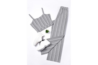 Set of 2 -The grey stripe outfit