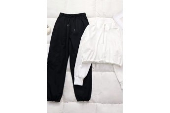 Set of 2: Contrast Casual Fleece Set