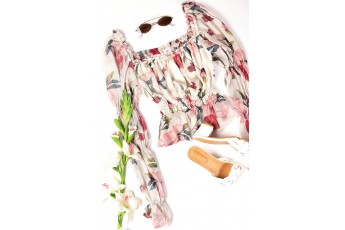 White floral print top
