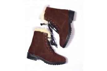 A snow fur attach boots
