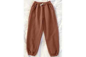Pocket Solid Patina Brown Trouser