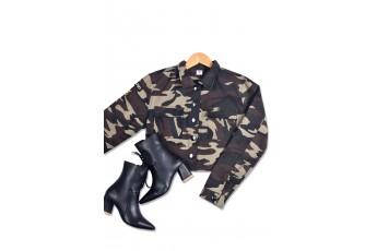 Military print canvas jacket