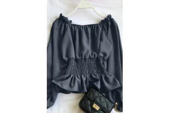 Dark Gray Smoking Full Sleeve Top