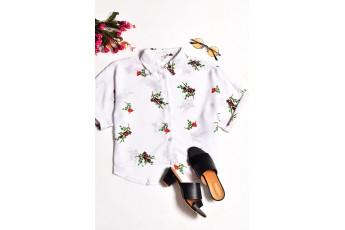 Cute floral print cute shirt