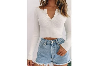 White All Day Casual Top