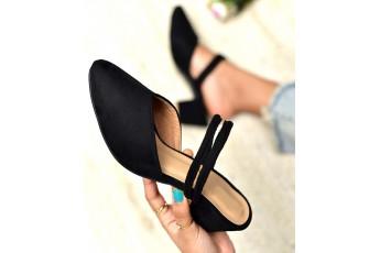 Coco berry black heels