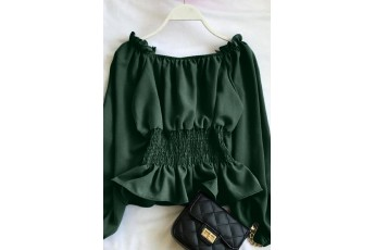 Dark Green Smoking Full Sleeve Top