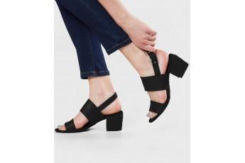Classic slingback strap black heel