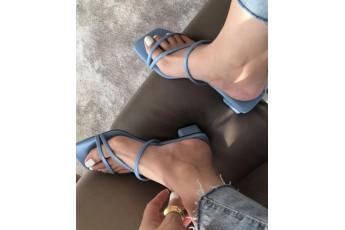 Cozy coffee day blue heels
