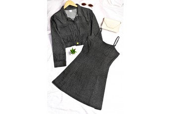 Set of 2 - Short dress with jacket outfit