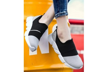 Casual color contrast sneakers