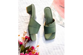 Ready to fly pastel green heels