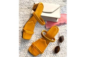 Shine brighter mustard heels