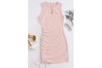 Veiled rose rib cute dress