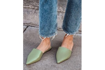 Hello summer green hue mule