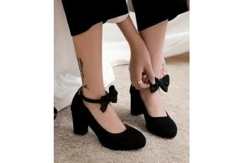 Cinderella bow black heel