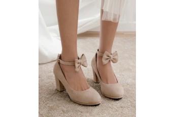 Cinderella bow Nude heel