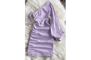 One shoulder rib dress