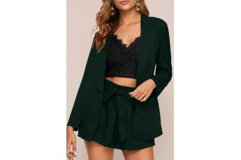 Set of two :- Dark green Summer shrug with short