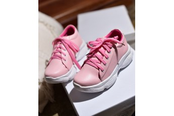 Strawberry sugar white chunky sneakers