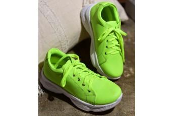 Neon trend comfort chunky sneaker