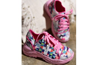 Harry style inspired eclectic chunky sneakers