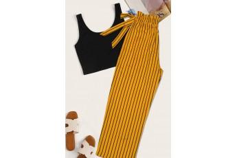 Yellow stripe trouser