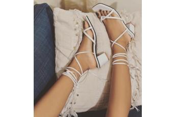 Crisis cross babe white heels