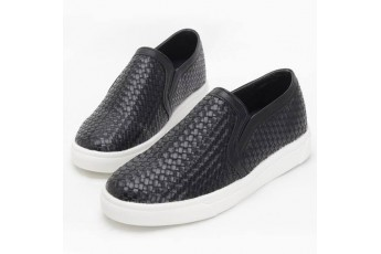 Jason textured black easy to wear sneakers